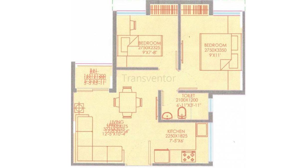 Purti Aqua Phase II Floor Plan 1