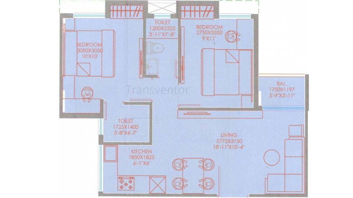 Purti Aqua Phase II Floor Plan 2