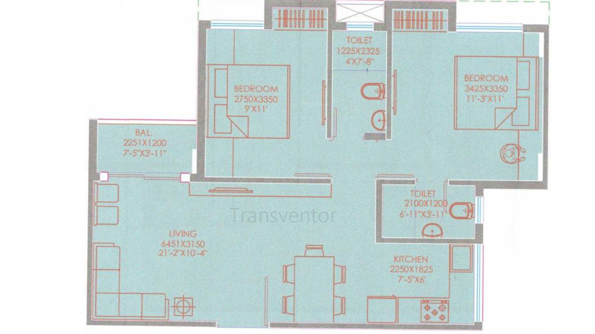 Purti Aqua Phase II Floor Plan 3