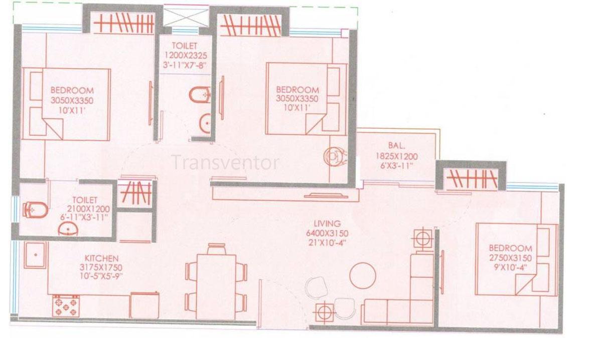 Purti Aqua Phase II Floor Plan 5