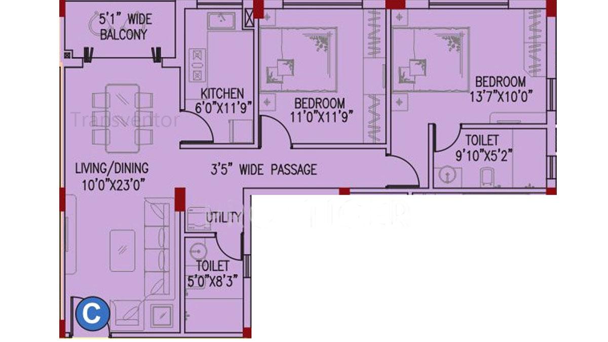 Space Clubtown Gateway Floor Plan 6