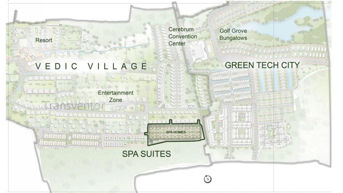 Vedic Spa Suites Floor Plan 1