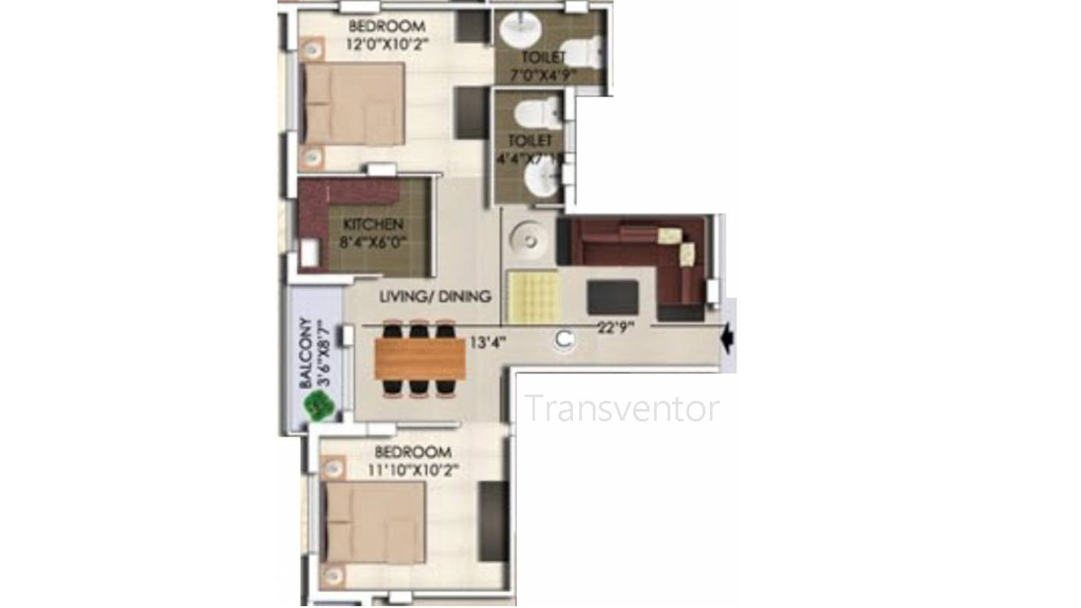Rajwada Nirvana Floor Plan 2