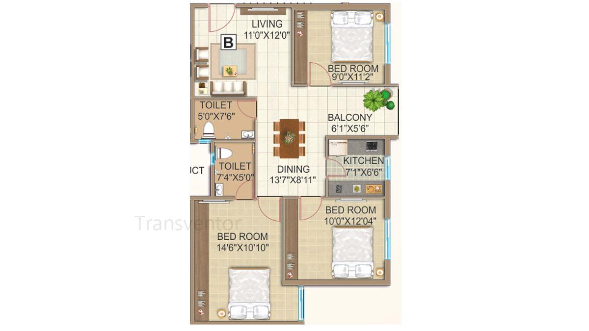 GPS Meena Fortuna Floor Plan 4