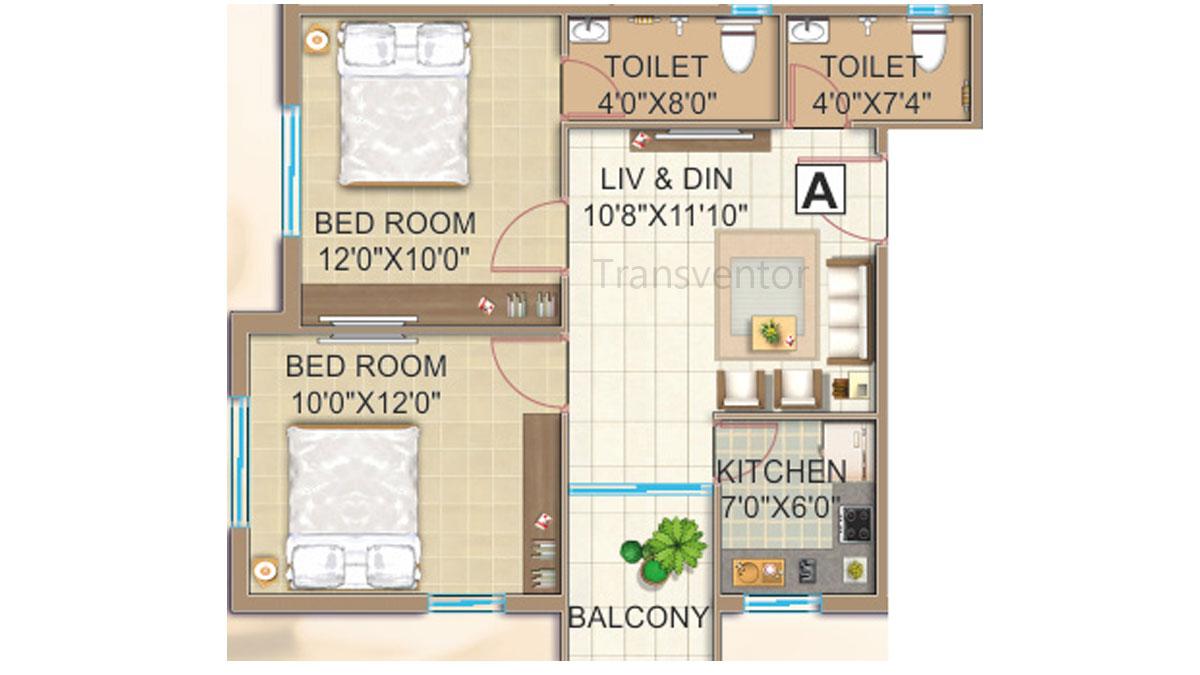 GPS Meena Fortuna Floor Plan 1