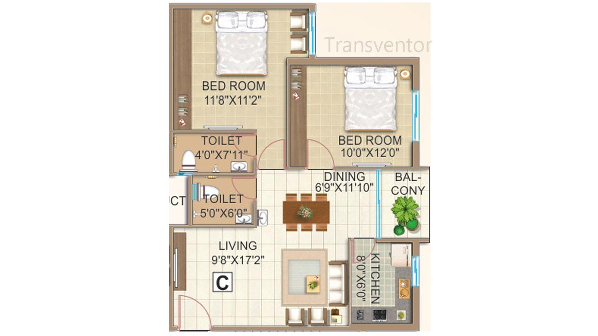 GPS Meena Fortuna Floor Plan 3