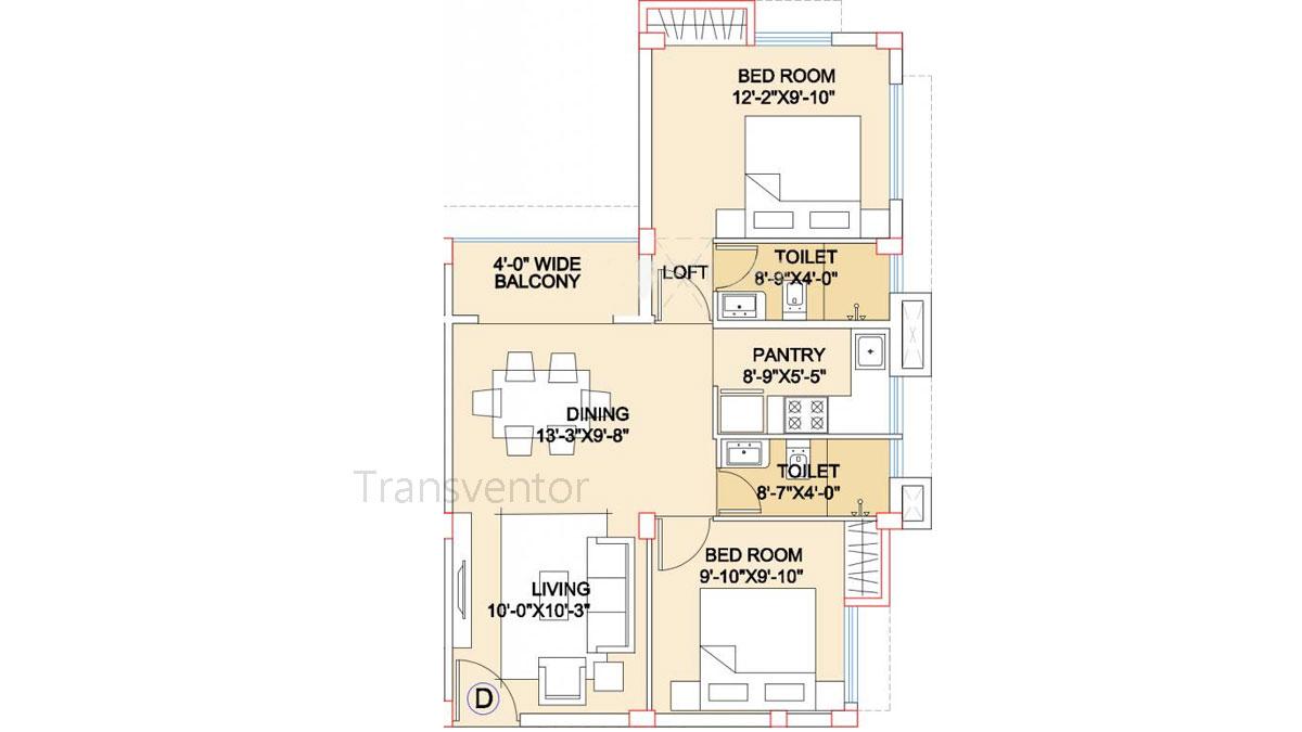 Adya Exotica Villa Floor Plan 2