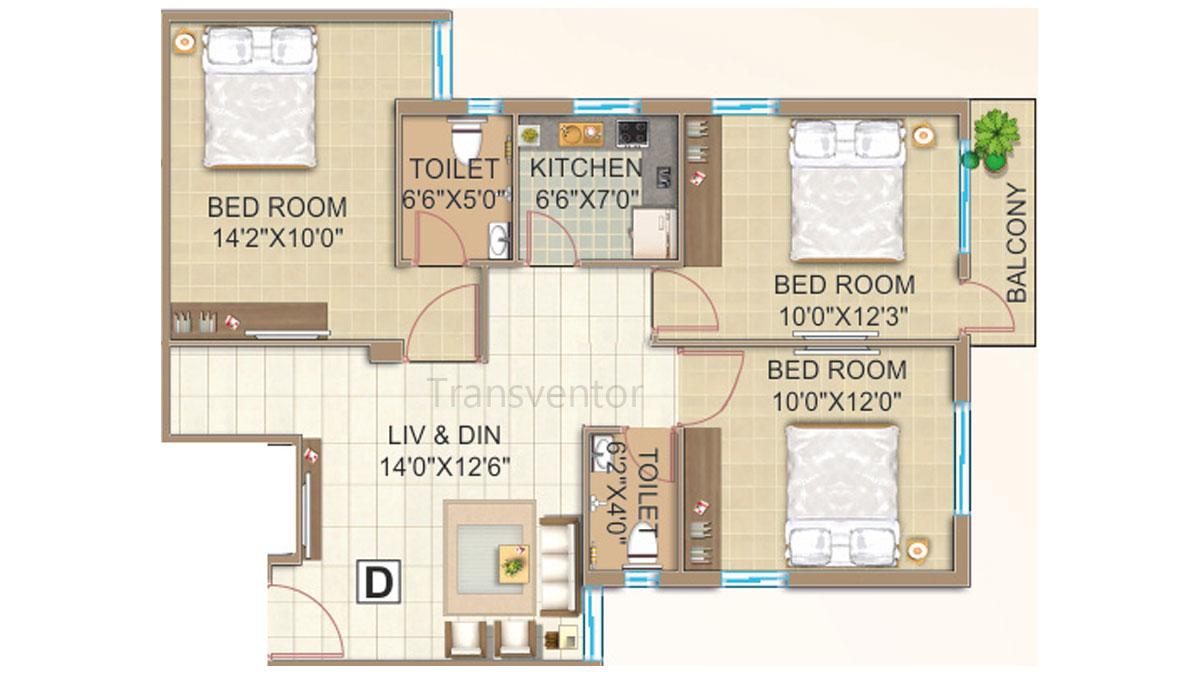 GPS Meena Fortuna Floor Plan 5
