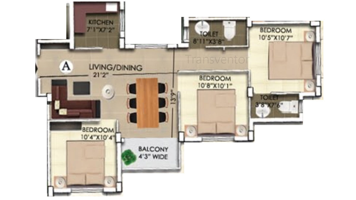 Rajwada Nirvana Floor Plan 4