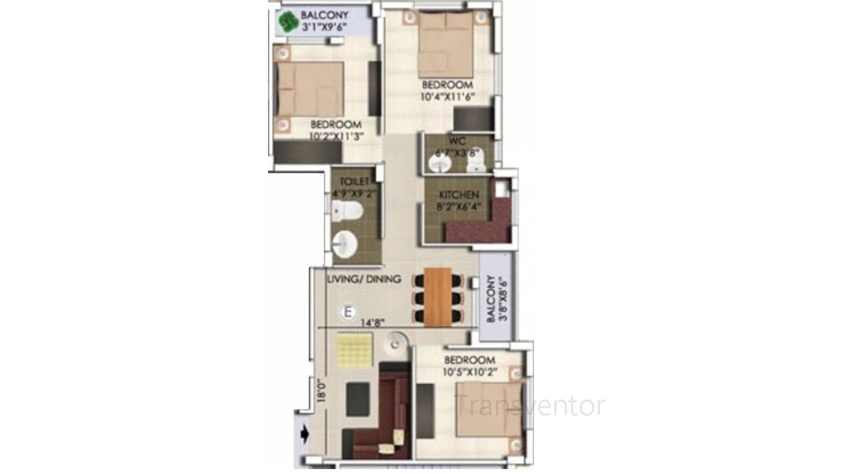 Rajwada Nirvana Floor Plan 5