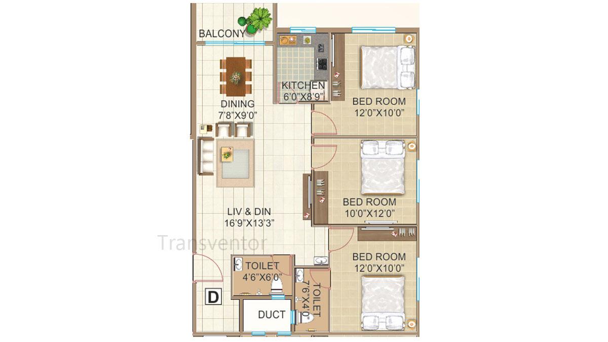GPS Meena Fortuna Floor Plan 6