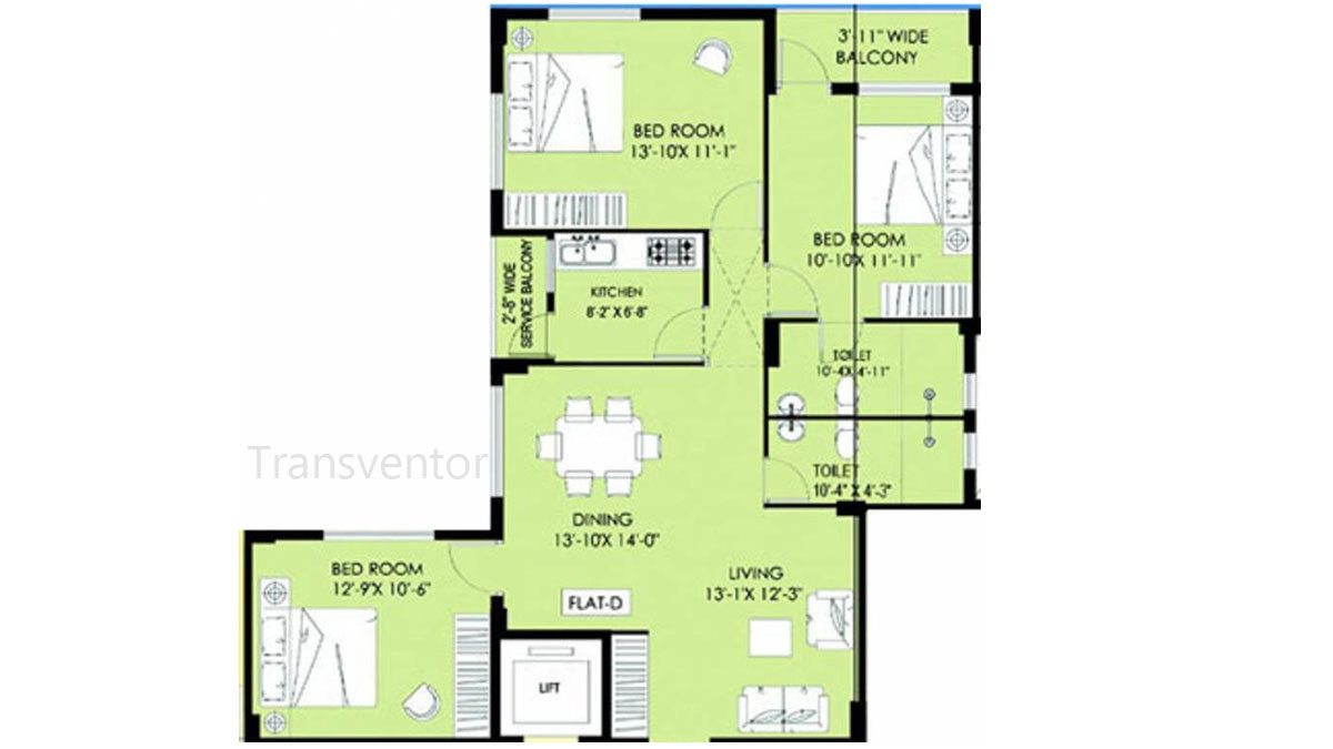 Greenfield Ambience Floor Plan 1