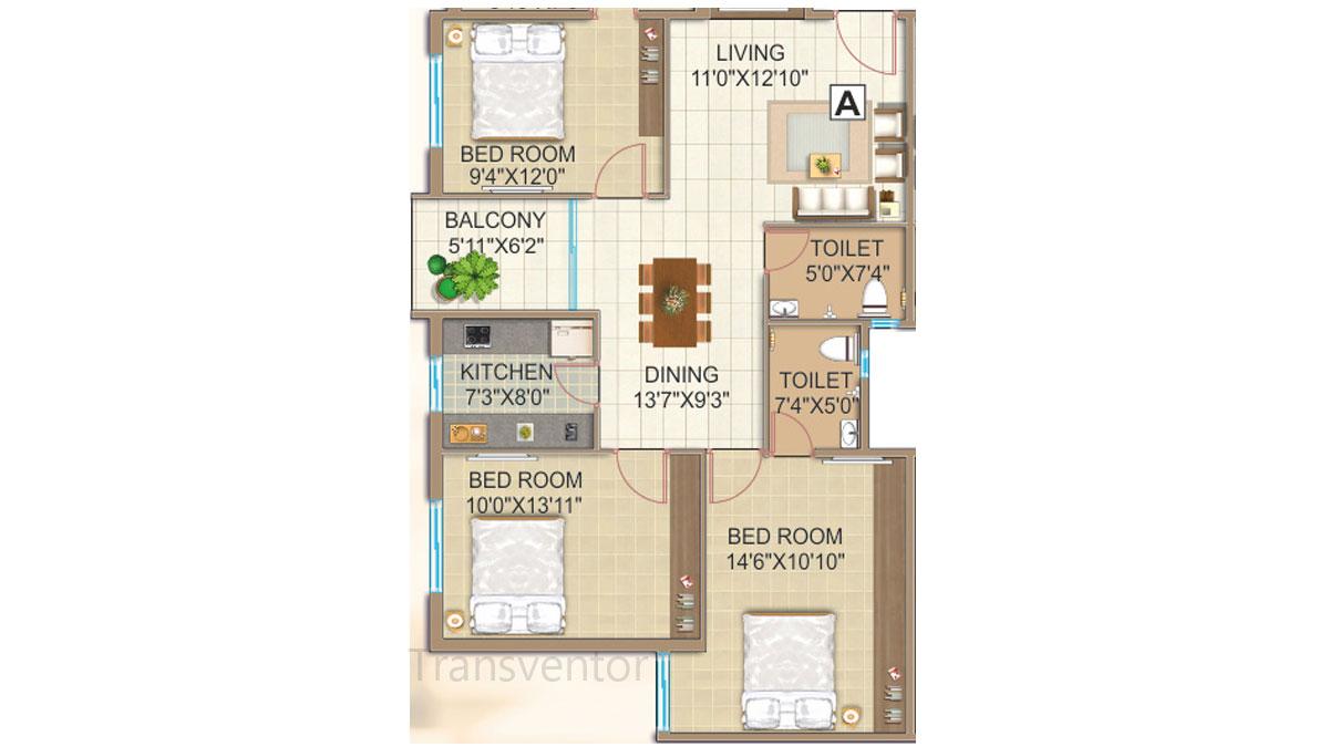 GPS Meena Fortuna Floor Plan 7