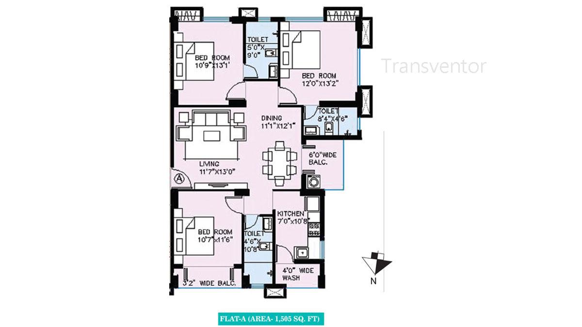 Vinayak Bellezza Floor Plan 2