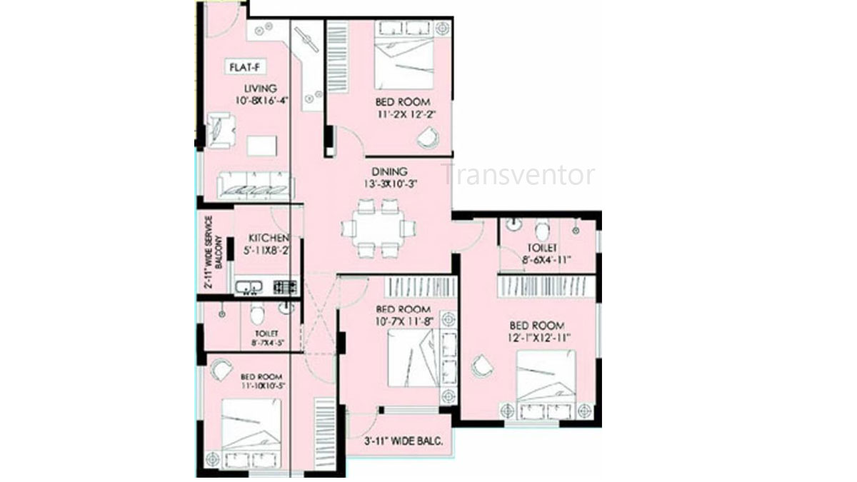Greenfield Ambience Floor Plan 6