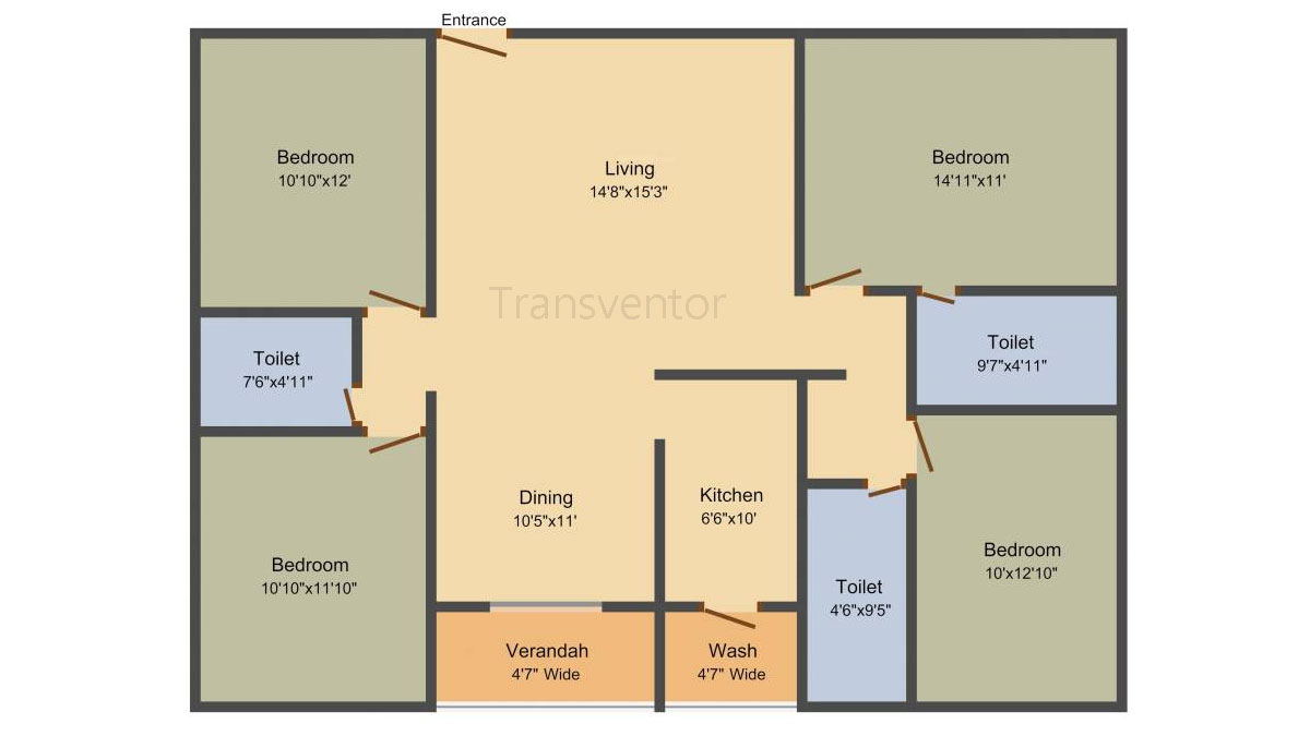 Rajwada Royal Garden Floor Plan 4