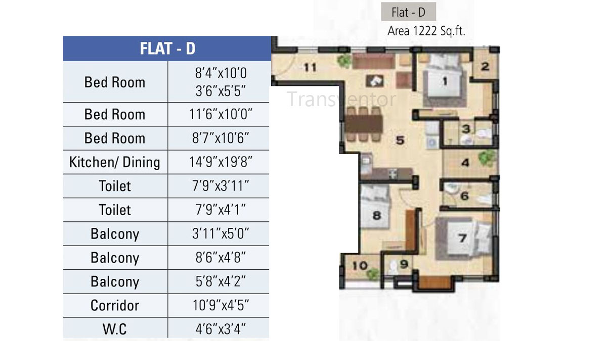 Ganguly 4sight Cityhouse Floor Plan 3