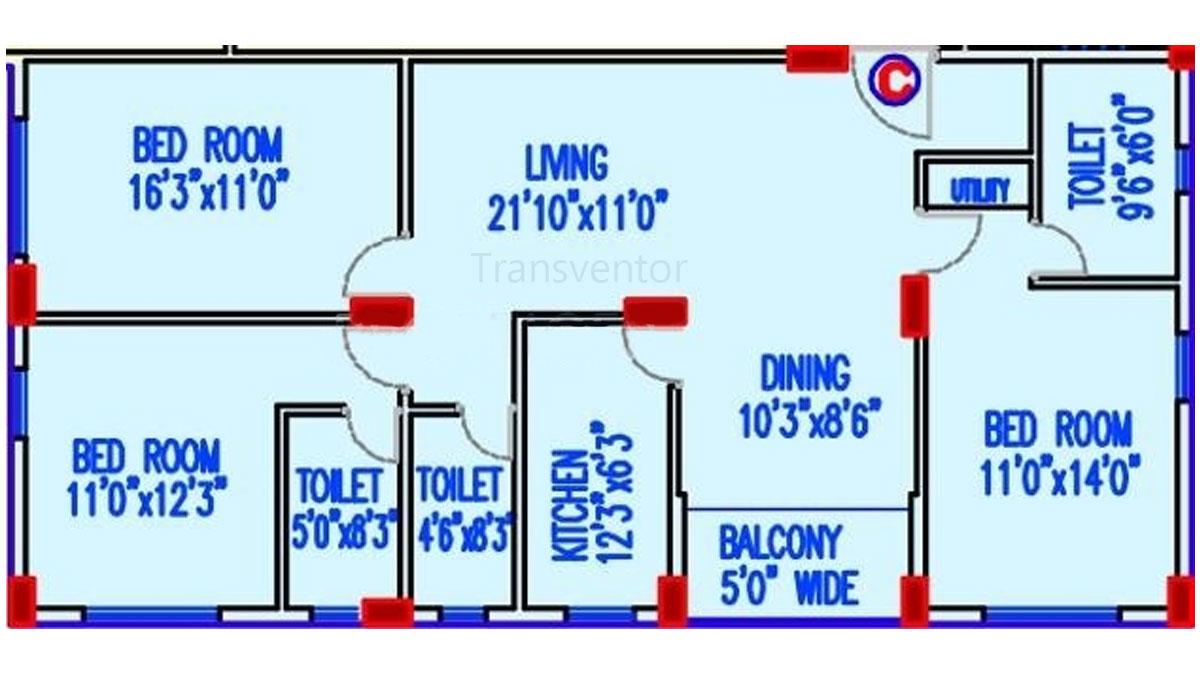 Akshara Vilaas Floor Plan 1