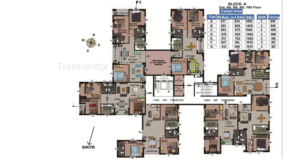 Rajwada Springfield Floor Plan 3