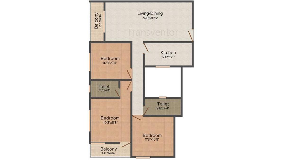 Fabulous Uno Floor Plan 4