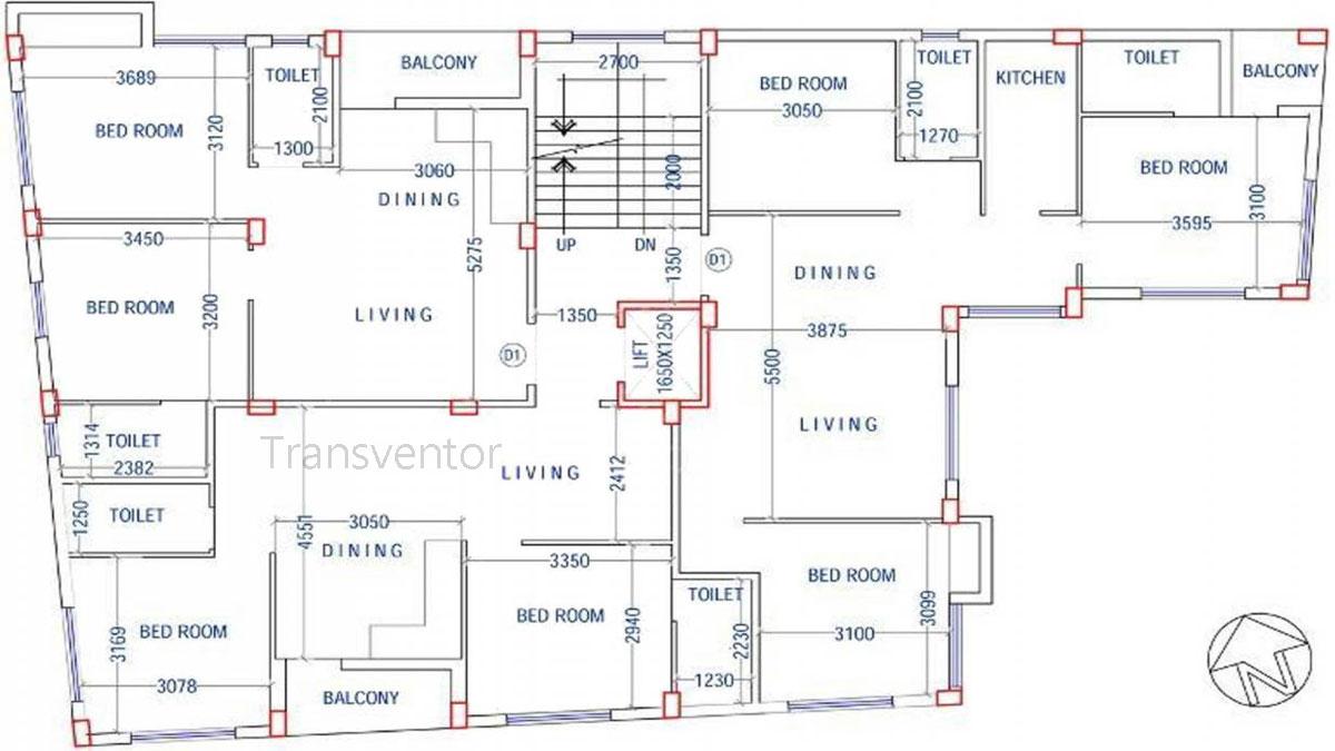 JMC Fern Residency Floor Plan 1