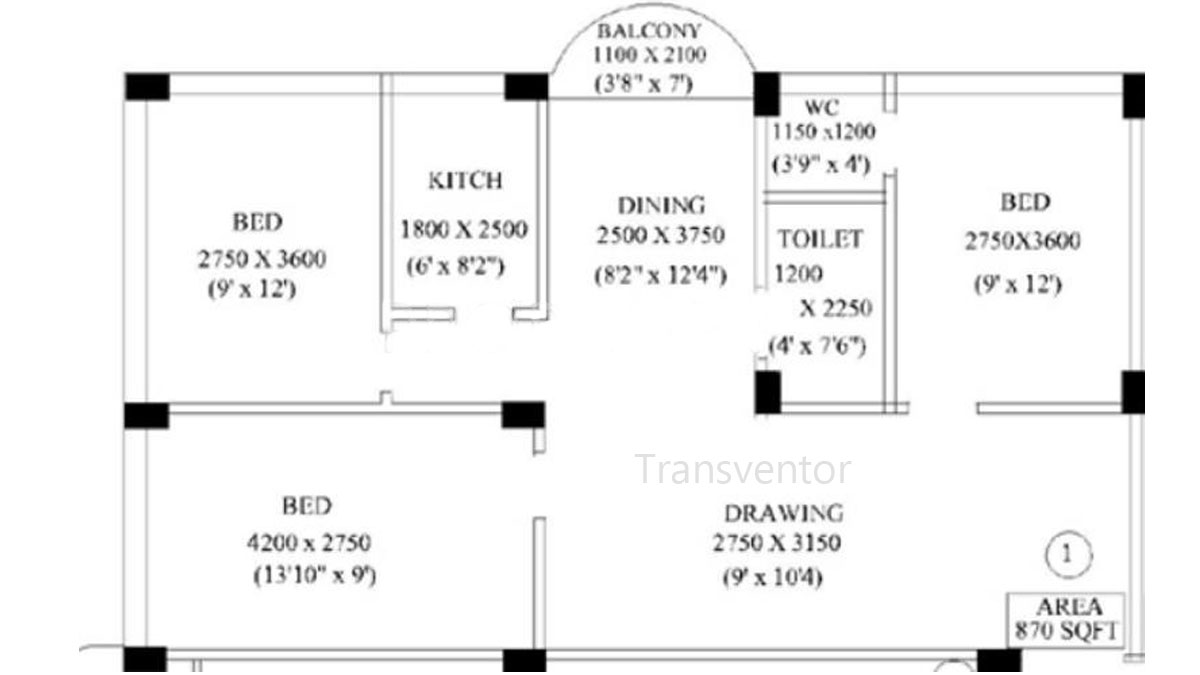 Kings residency Floor Plan 2