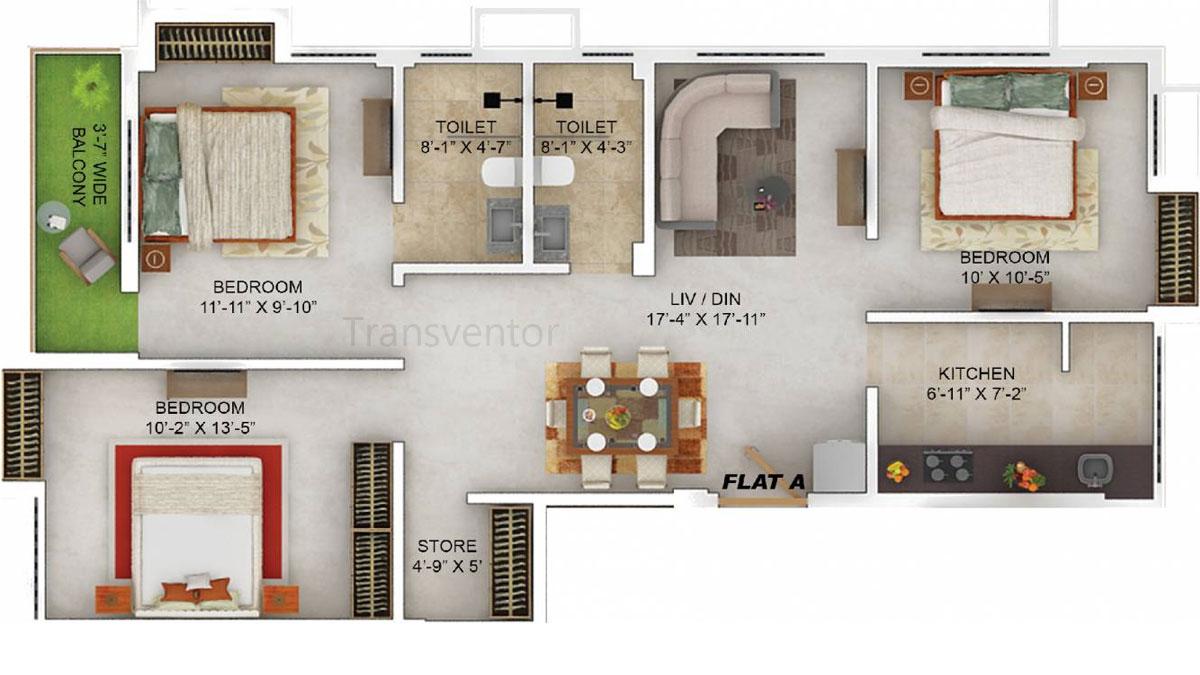Merlin Dev Bhawan Floor Plan 1