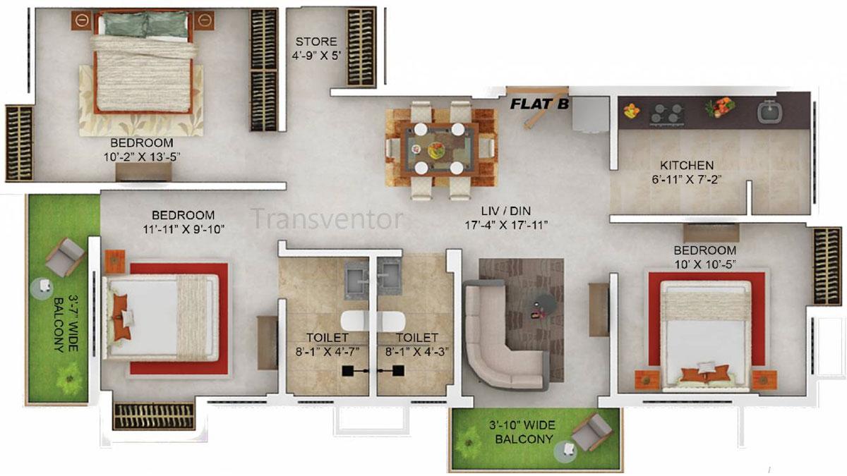 Merlin Dev Bhawan Floor Plan 2