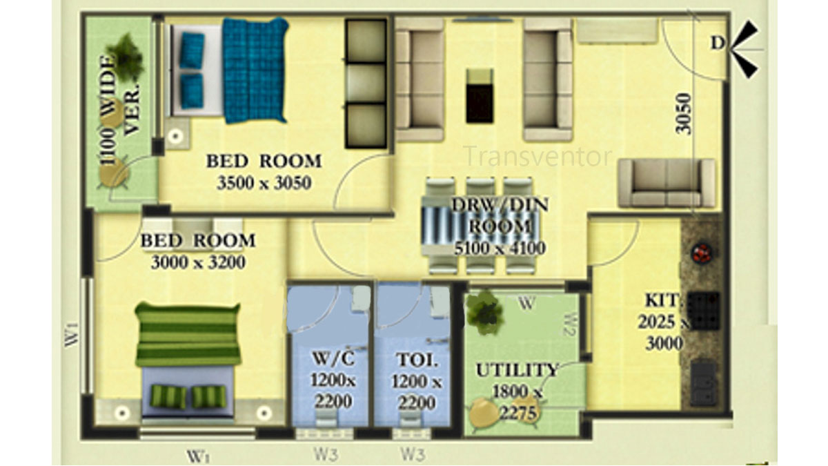 Skywood Nestwood Maple Floor Plan 3