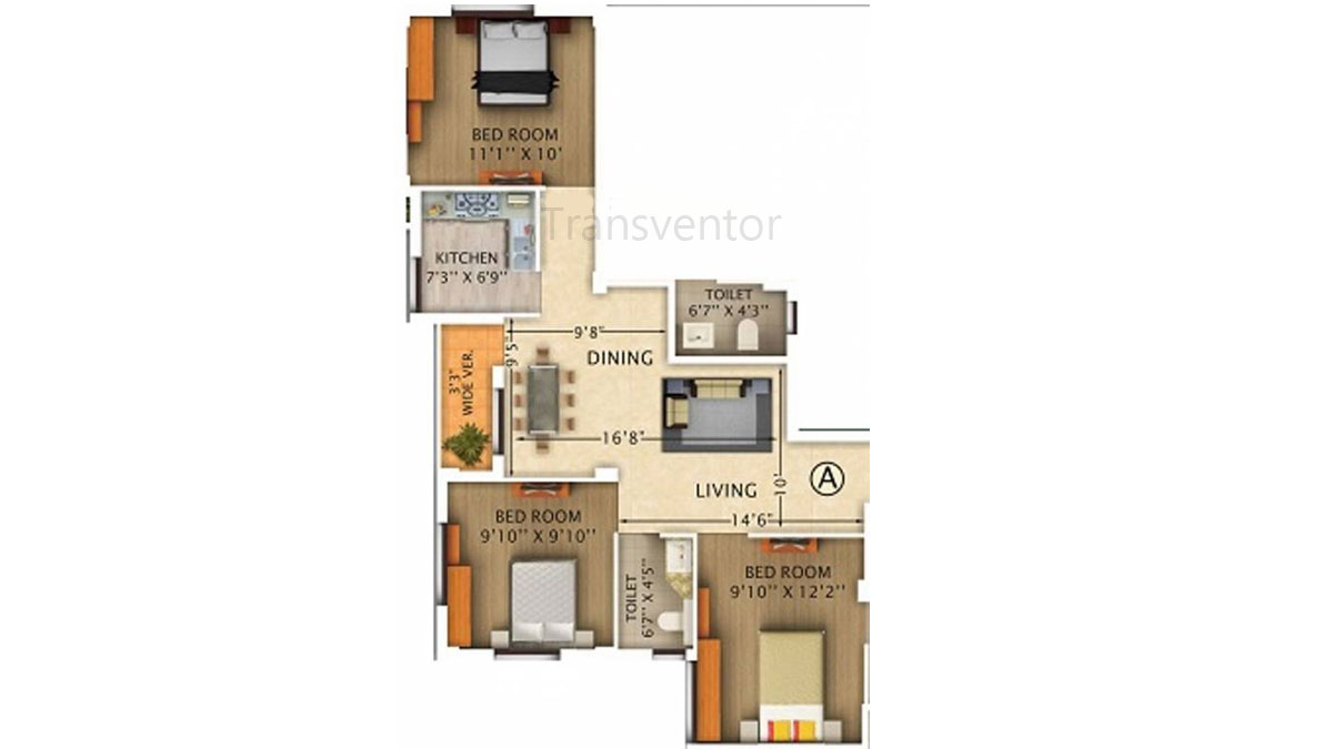 Rajwada Pebble Bay Floor Plan 2