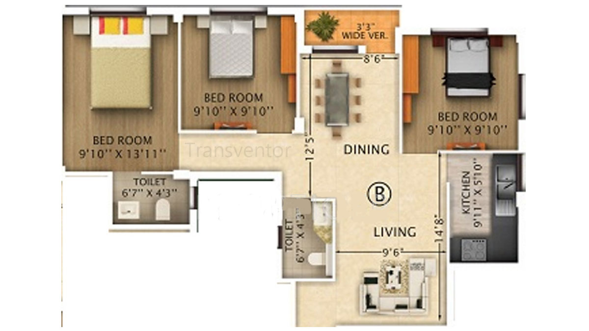 Rajwada Pebble Bay Floor Plan 3