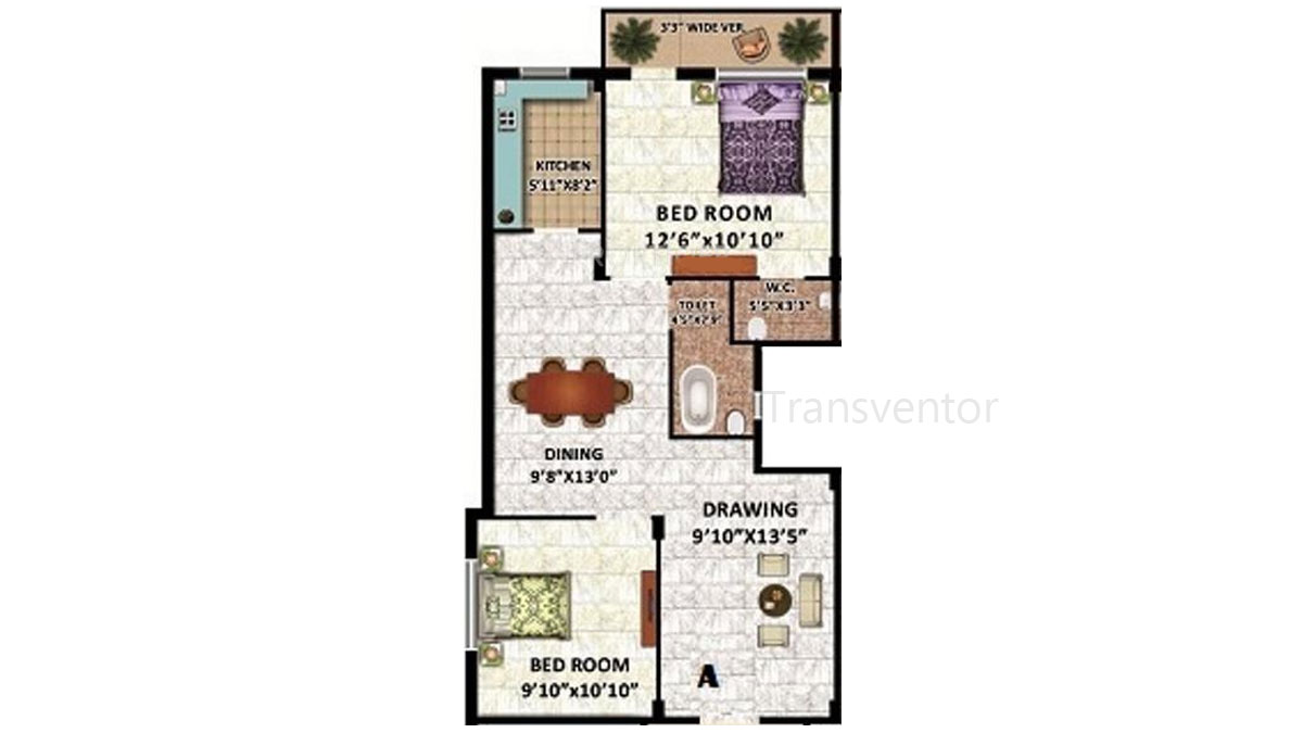 Rajwada Estate Phase II Floor Plan 1