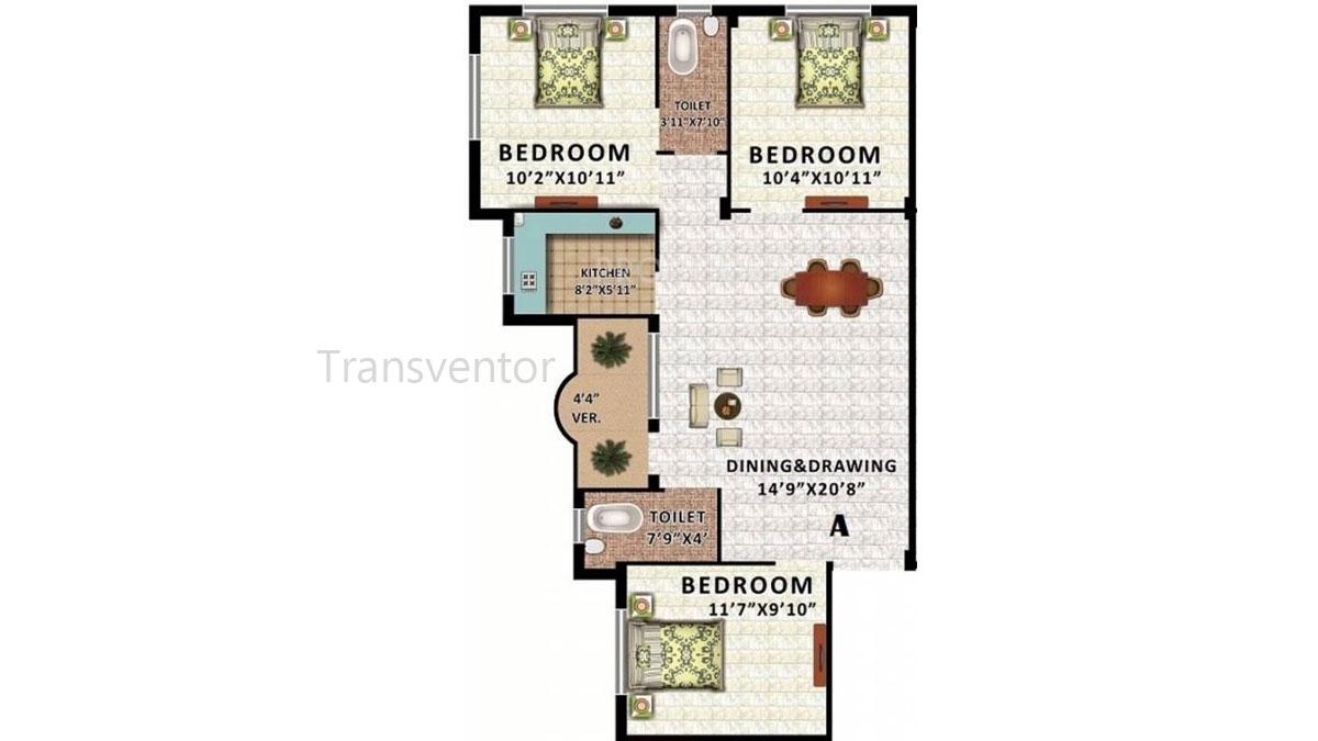 Rajwada Estate Phase II Floor Plan 3