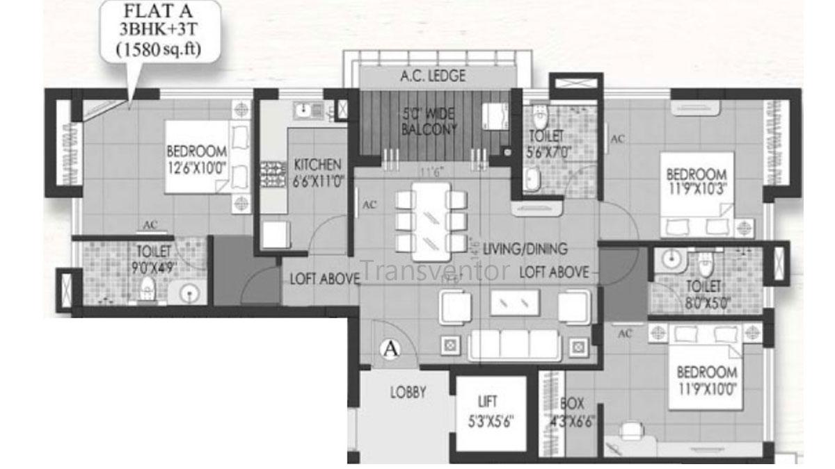 Rungta Madgul Shreepuram Floor Plan 3