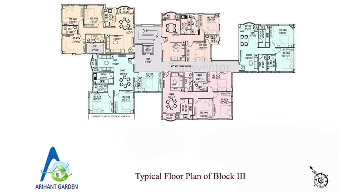 Arihant Garden Floor Plan 4