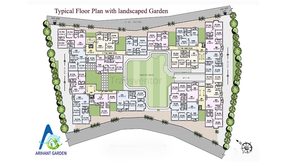 Arihant Garden Floor Plan 1