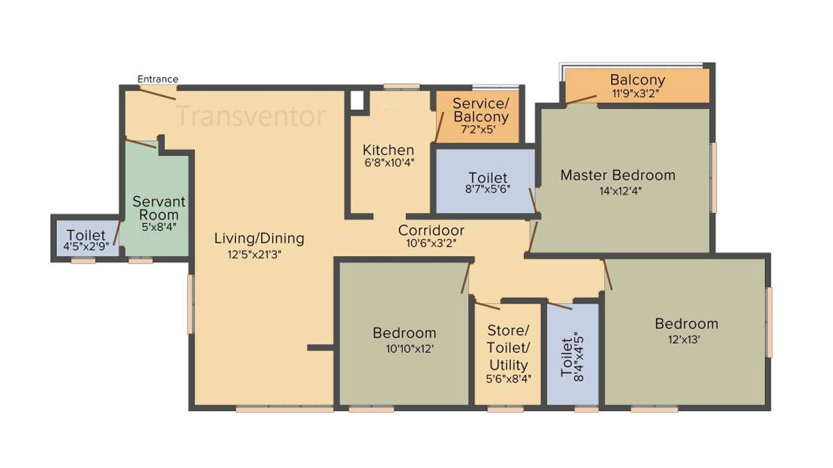 Bengal Teen Kanya Floor Plan 4