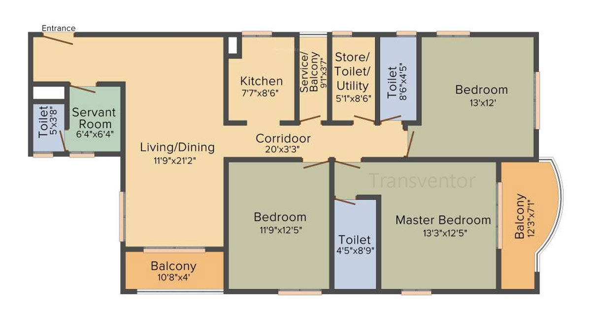 Bengal Teen Kanya Floor Plan 5
