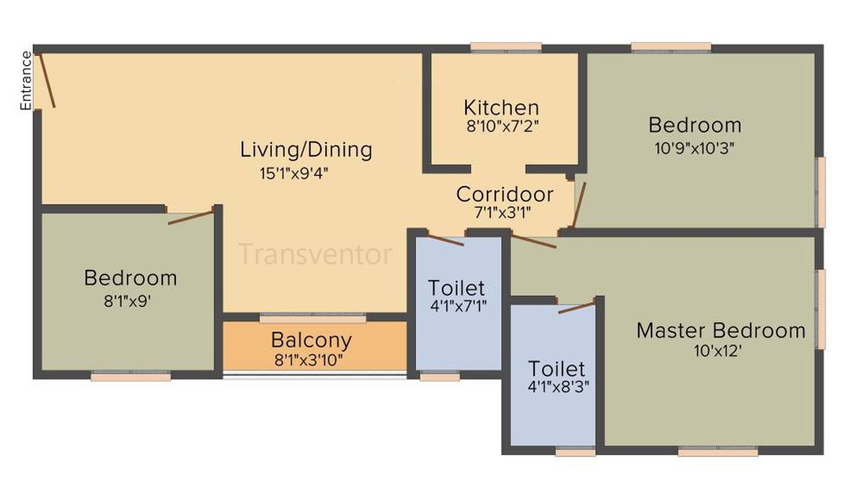 Bengal Teen Kanya Floor Plan 2