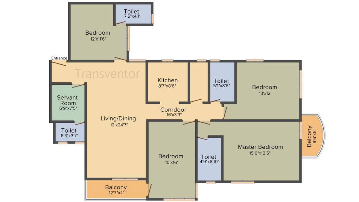 Bengal Teen Kanya Floor Plan 6
