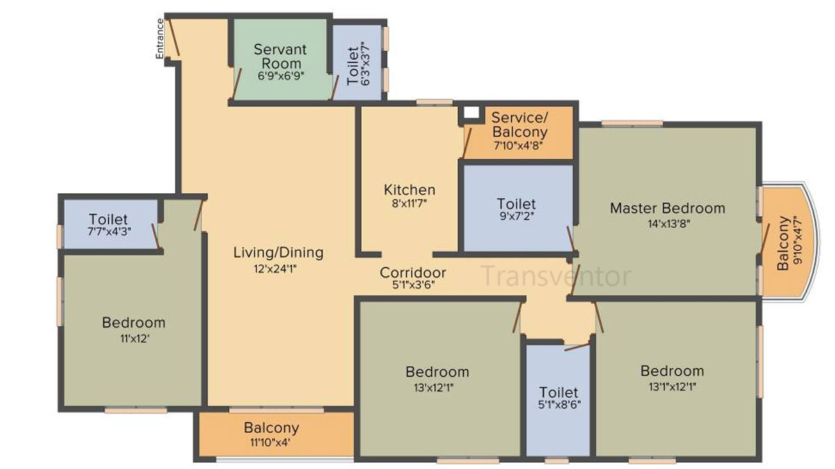 Bengal Teen Kanya Floor Plan 7