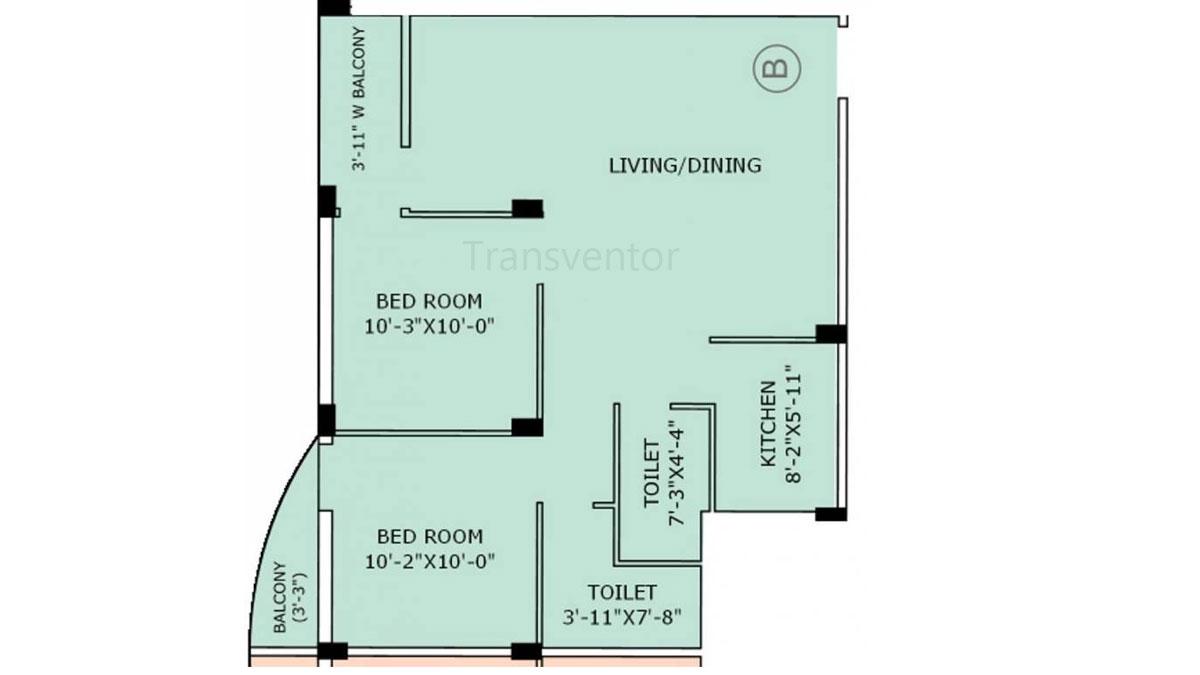 Jain Dream Apartments Floor Plan 2