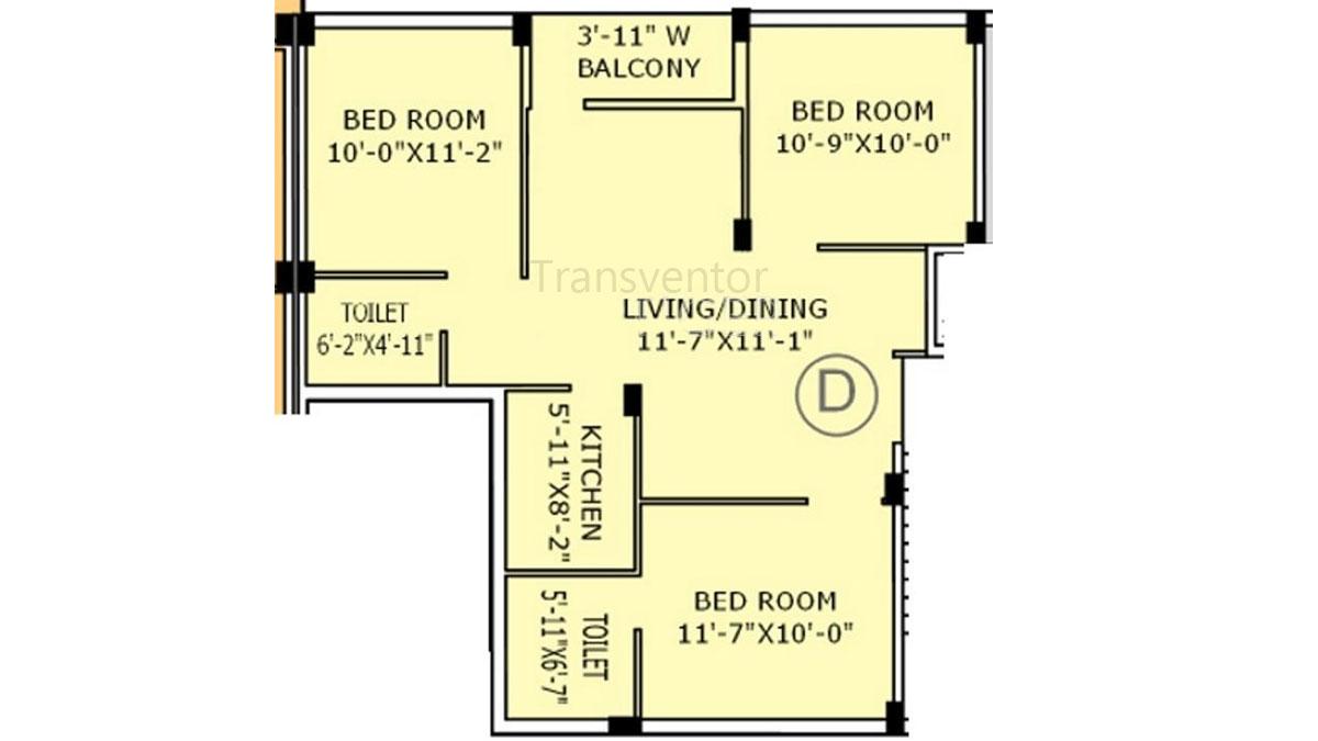 Jain Dream Apartments Floor Plan 3