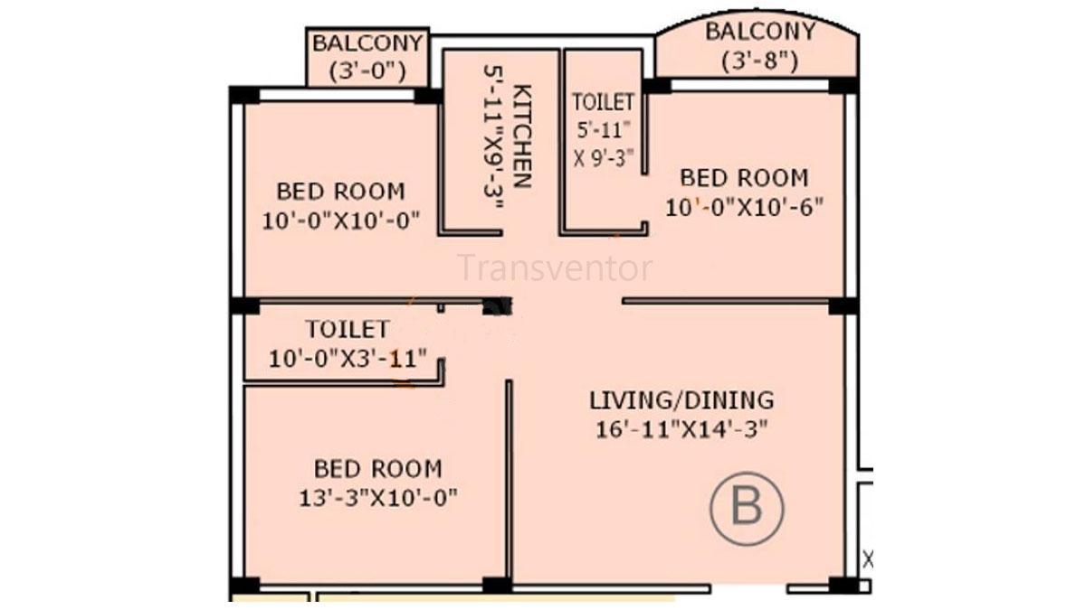 Jain Dream Apartments Floor Plan 4