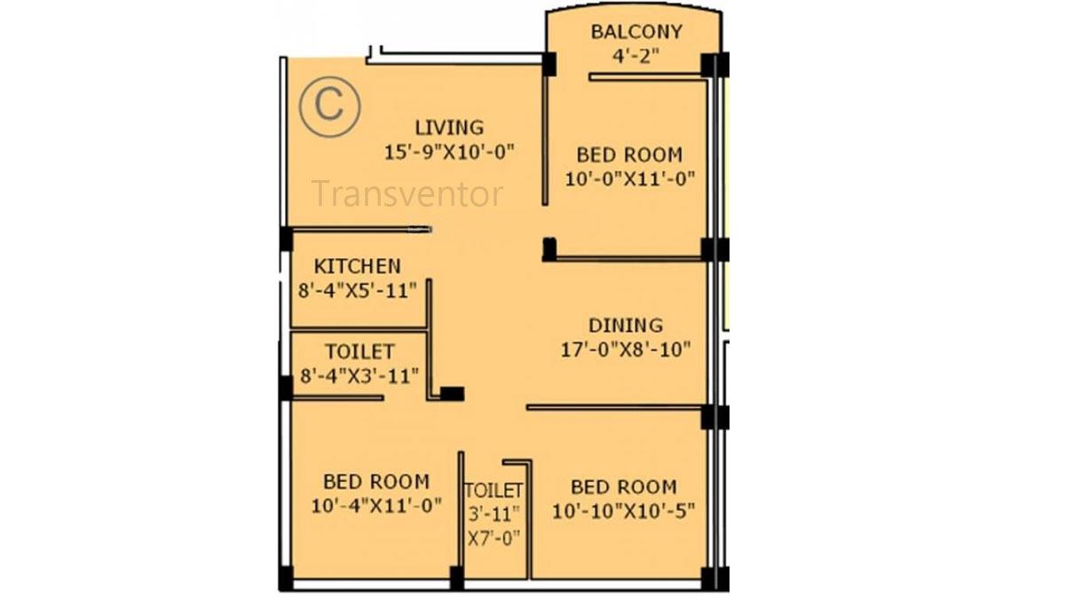 Jain Dream Apartments Floor Plan 5