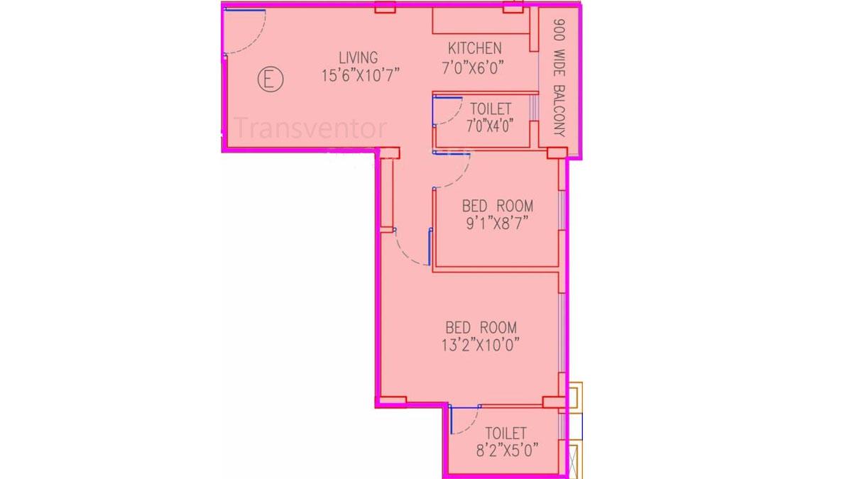 Dream Residency Manor Floor Plan 1