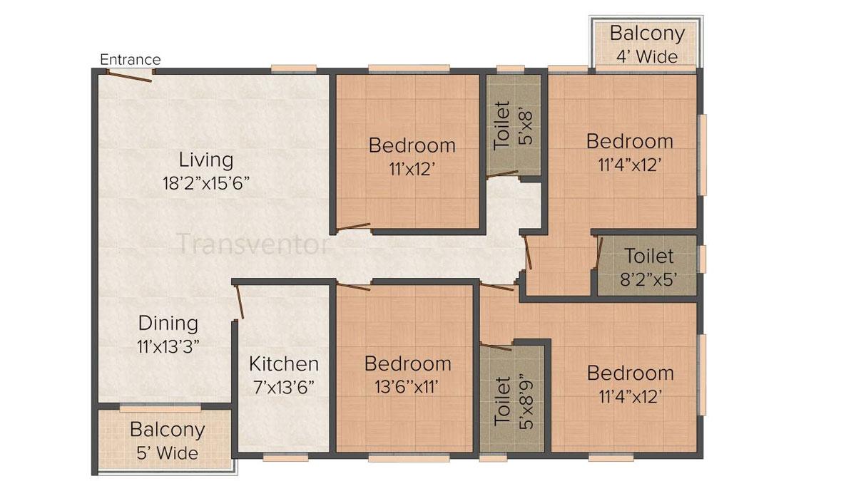 Dream Residency Manor Floor Plan 4