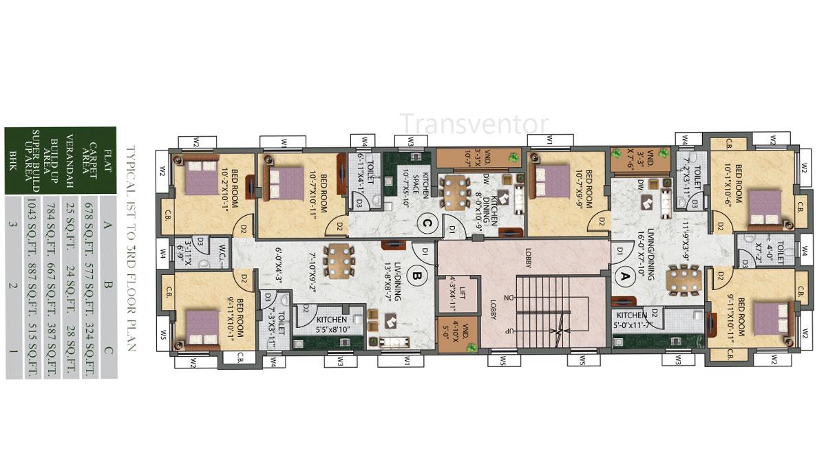 Eden Ivory Floor Plan 1