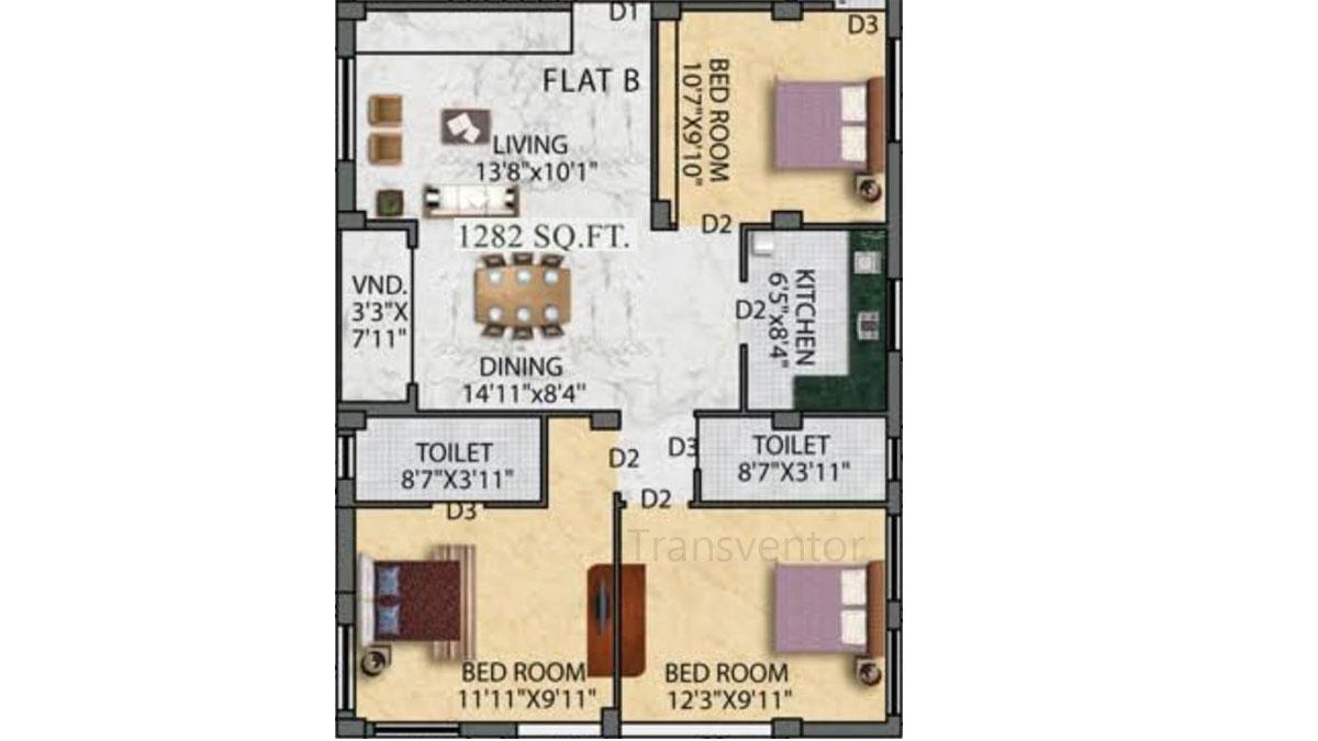 Eden Ivory Floor Plan 3