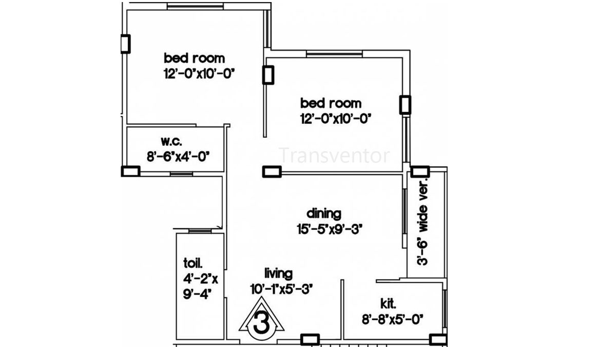 Green Residency Floor Plan 3